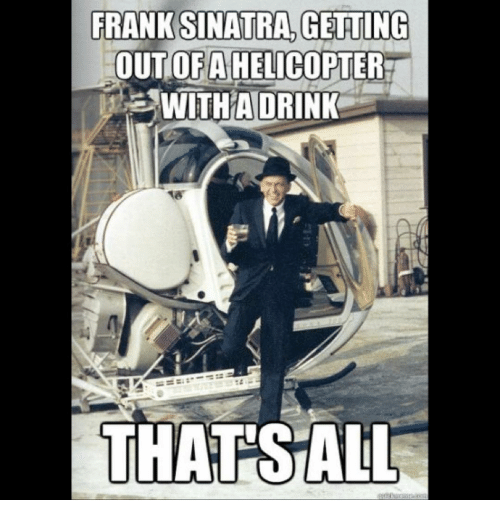frank sinatra getting out of a helicopter a with a 16522848 frank sinatra getting out of a helicopter a with a drink that