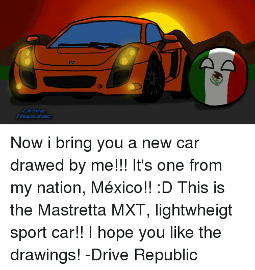 Fre Our Now I Bring You A New Car Drawed By Me!!! It's One