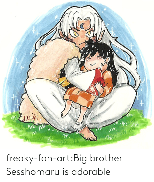 Target, Tumblr, and Big Brother: freaky-fan-art:Big brother Sesshomaru is adorable