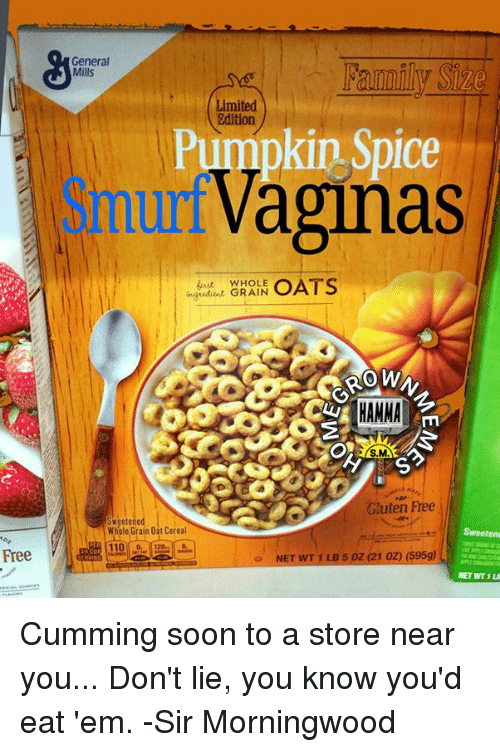 Cum Memes And Soon Free General Mills Limited Edition Pumpkin