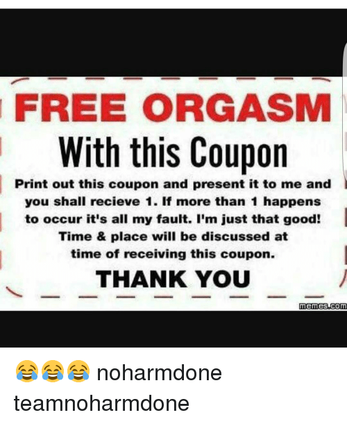 coupon Free orgasm
