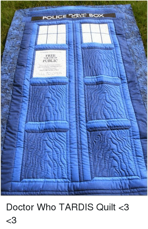 Free Public Doctor Who Tardis Quilt 3 3 Doctor Meme On Me