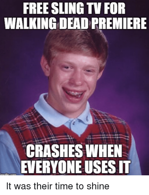 FREE SLING TV FOR WALKING DEAD PREMIERE Il CRASHES WHEN EVERYONE