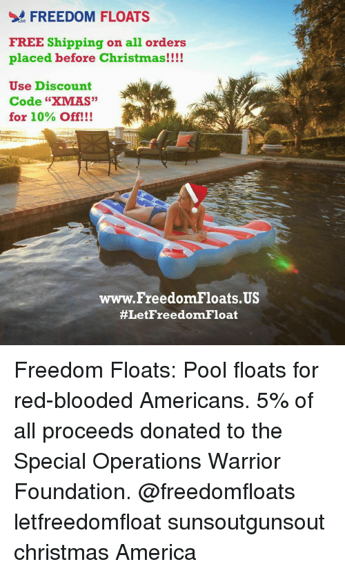 bloods pool and warriors freedom floats free shipping on all orders placed before