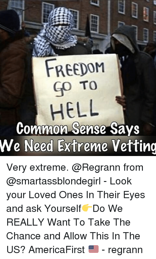 Memes Common Sense And  F0 9f A4 96 Freedom Go To Hell Common Sense Says We