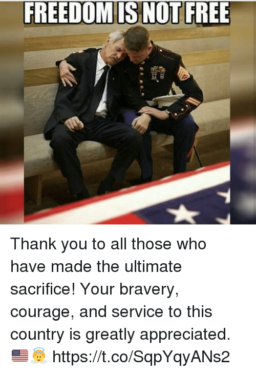 Memes, Thank You, and Free: FREEDOM IS NOT FREE Thank you to all those who have made the ultimate sacrifice! Your bravery, courage, and service to this country is greatly appreciated. 🇺🇸👼 https://t.co/SqpYqyANs2