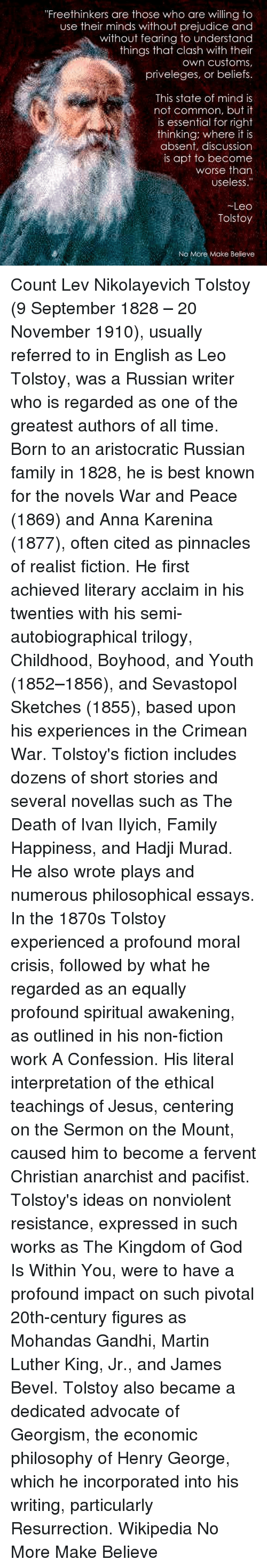 the several ironies expressed in the death of ivan ilyich by leo tolstoy Sociology of death and dying exam 1  to understanding death attitudes and are seen in leo tolstoy's book the death of ivan ilych  are several types of death.