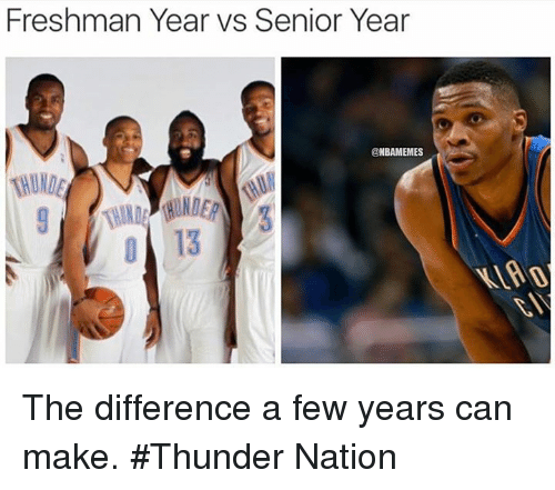 Freshman Year Vs Senior Year Nbamemes The Difference A Few Years Can