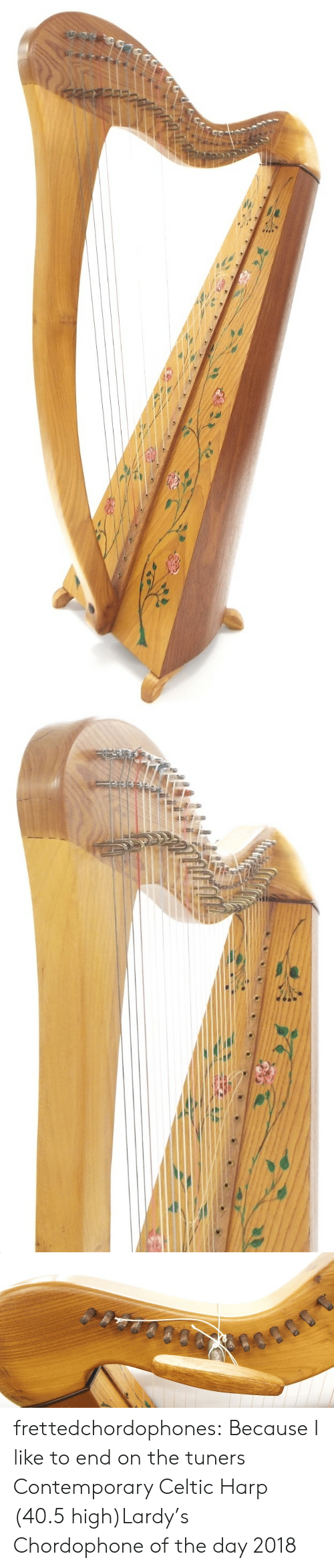 Celtic, Tumblr, and Blog: frettedchordophones:  Because I like to end on the tuners  Contemporary Celtic Harp (40.5 high)Lardy's Chordophone of the day 2018