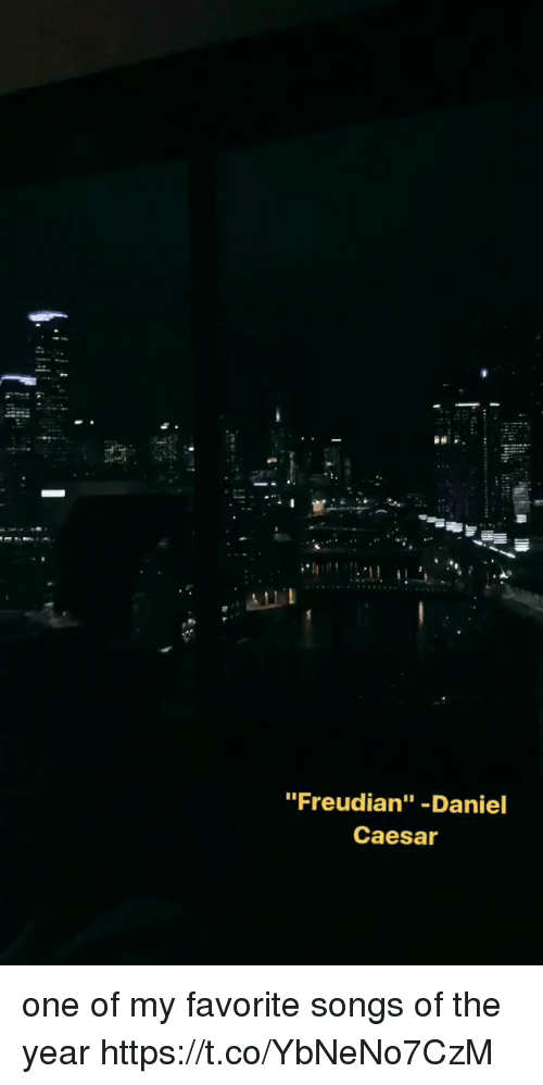 """Funny, Songs, and One: """"Freudian"""" -Daniel  Caesar one of my favorite songs of the year https://t.co/YbNeNo7CzM"""