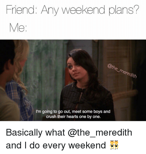 how to answer weekend plans