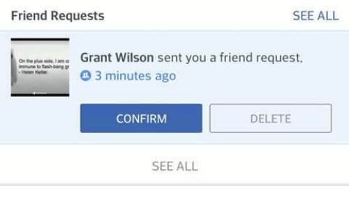 Memes Aang And Friend Requests SEE ALL Grnt Wilson Sent You A