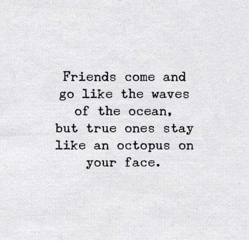 Friends Come And Go Like The Waves Of The Ocean But True Ones Stay