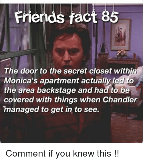 Memes, 🤖, And The Doors: Friends Fact 86 The Door To The Secret