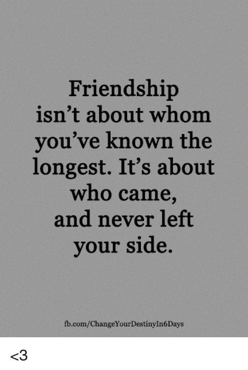 Friendship Isnt About Whom Youve Known The Longest Its About Who