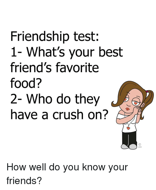 test for friends about me