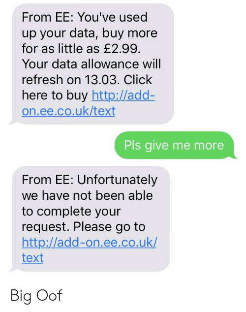From EE You've Used Up Your Data Buy More for as Little as