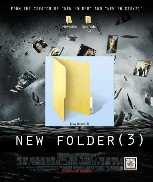"""Soon..., Creator, and New: FROM THE CREATOR 0F """"NEW FOLDER"""" AND """"NEW FOLDER (2)'""""  New folder  New folder  New folder B)  NEW F0LDER 3)  COMING SOON"""