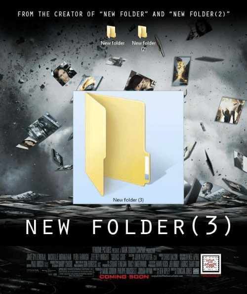 FROM THE CREATOR OFNEW FOLDER AND NEW FOLDER 2 New Folder New Folder