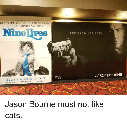 25 Best Memes About Jason Bourne Men In Black Movies Life