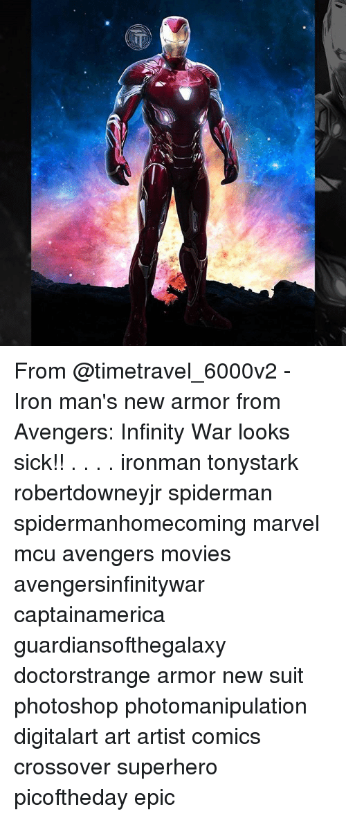 From - Iron Man's New Armor From Avengers Infinity War Looks