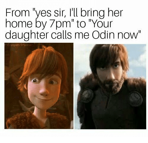 "Home, Odin, and Her: From 'yes sir, I'll bring her  home by 7pm"" to ""Your  daughter calls me Odin now"""
