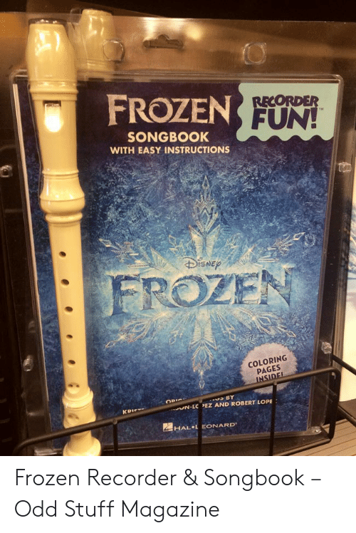 frozen fun recorder songbook with easy instructions disnep frozen coloring