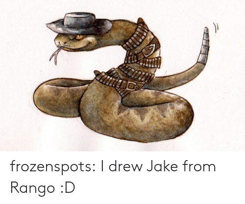 Tumblr, Blog, and Com: frozenspots:  I drew Jake from Rango :D