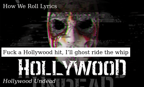 Fuck a Hollywood Hit I'll Ghost Ride the Whip   Donald Trump