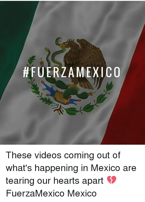Memes, Videos, and Hearts: These videos coming out of what's happening in Mexico are tearing our hearts apart 💔 FuerzaMexico Mexico