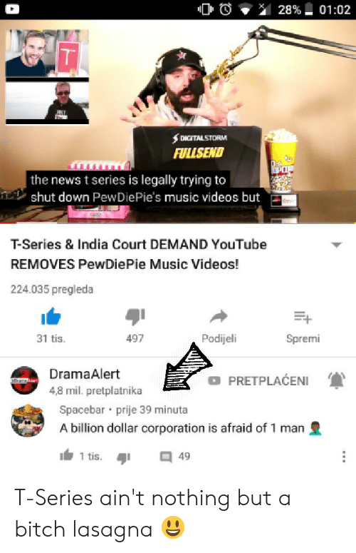FULISEND the News T Series Is Legally Trying to Shut Down