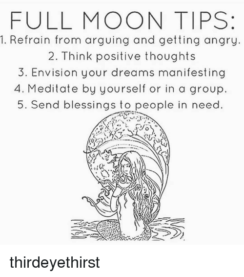 Memes And Group FULL MOON TIPS 1 Refrain From Arguing