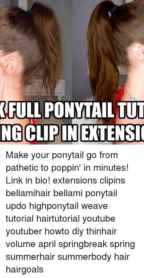 Full Ponyttailtut Ngclipinextensio Make Your Ponytail Go From
