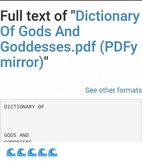 Full Text Of Dictionary Of Gods And Goddesses Pdf Pdfy Mirror See