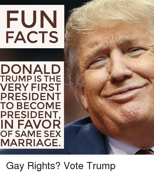 Donald Trump Factarriage Fun Facts Is The Very First