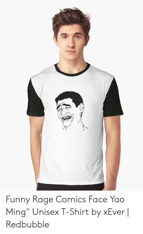 c83303f5 Funny Rage Comics Face Yao Ming Unisex T-Shirt by xEver | Redbubble ...