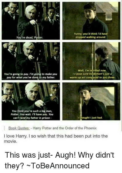 Funny Youd Thinkrdha Stopped Walking Around Youre Dead Potter Well