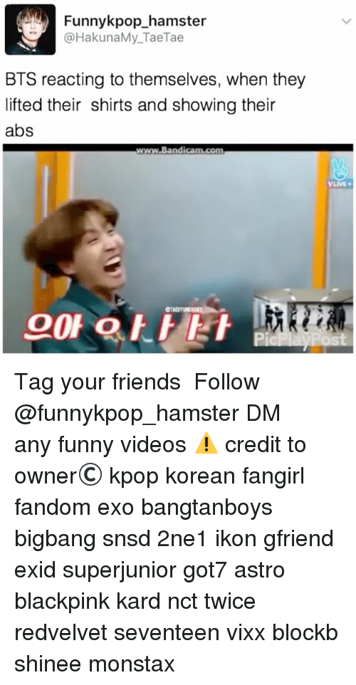 Funnykpop_hamster BTS Reacting to Themselves When They Lifted Their