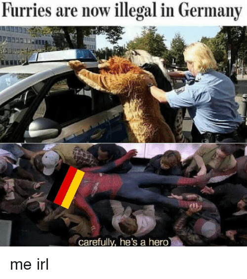 Furries Are Now Illegal in Germany Carefully He's a Hero