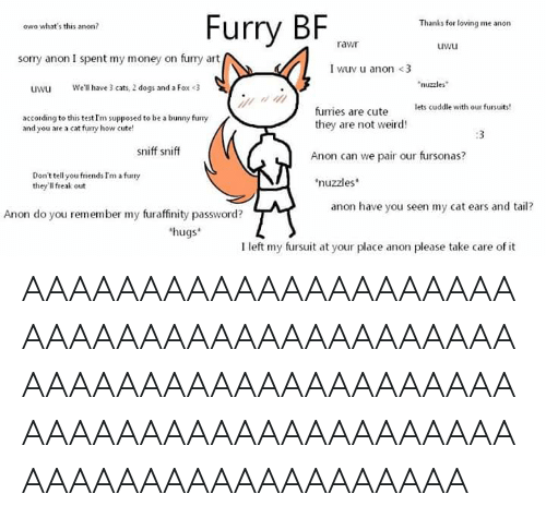Furry BF Thanks for Loving Me Anon Owo What's This Anon
