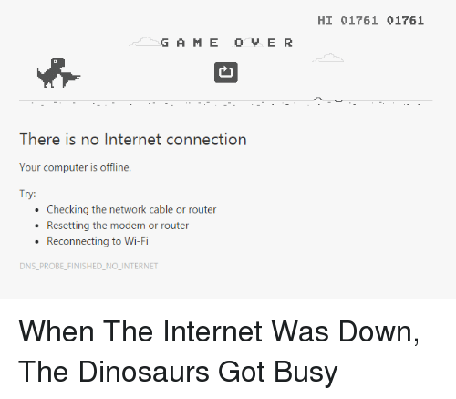 G a M E O vs ER There Is No Internet Connection Your Computer Is