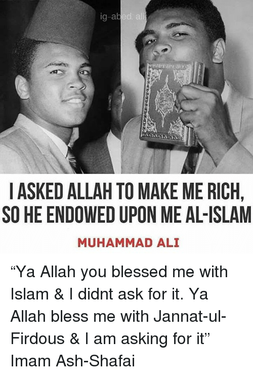 Ali, Ash, and Blessed: g-abed ali I ASKED ALLAH TO MAKE