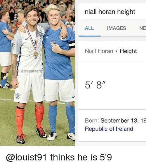 niall horan real height