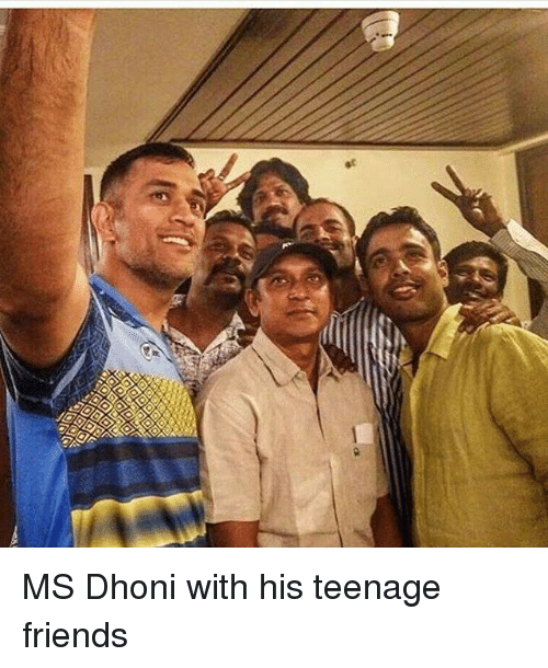 Memes, 🤖, and Dhoni: G MS Dhoni with his teenage friends
