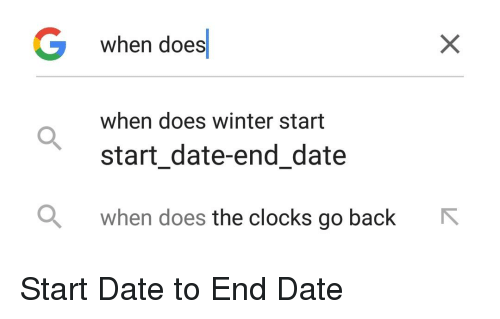 G When Does When Does Winter Start Start Date-End Date When
