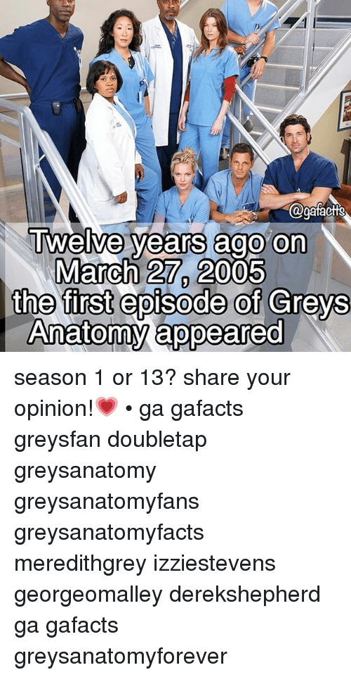 Twelve Years Ago on March 27 2005 the First Episode of Greys Anatomy ...