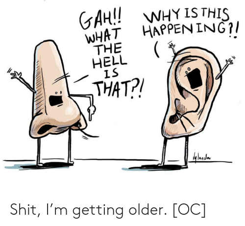 Shit, Hell, and Ing: GAH!!W  WHAT HAPPEN ING?/  THE  HELL  IS  WHY IS THIS  THAT?! Shit, I'm getting older. [OC]