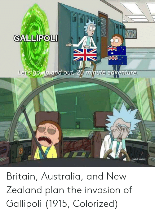 Australia, New Zealand, and Britain: GALLIPOLI  and out 20 minute adventu  re  wiml Britain, Australia, and New Zealand plan the invasion of Gallipoli (1915, Colorized)