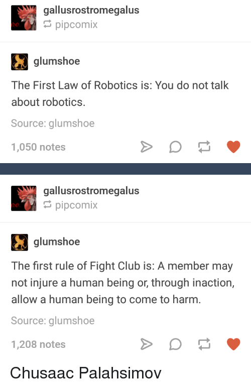 Gallusrostromegalus Pipcomix Glumshoe The First Law Of Robotics Is