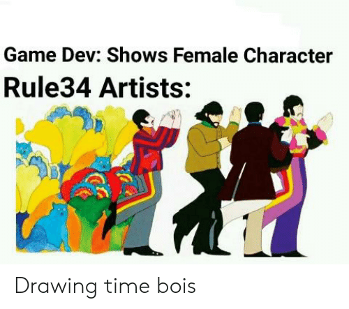 Game Dev Shows Female Character Rule34 Artists Drawing Time